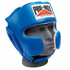 View the PRO BOX 'SUPER SPAR' LEATHER SPARRING HEADGUARD - BLUE online at Fight Outlet