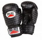 View the PRO BOX 'BASE SPAR' JUNIOR PU SPARRING GLOVES BLACK LOGO  online at Fight Outlet