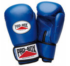 PRO BOX 'BASE SPAR' JUNIOR PU SPARRING GLOVES BLUE