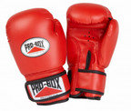 View the PRO BOX 'BASE SPAR' JUNIOR PU SPARRING GLOVES RED online at Fight Outlet