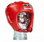 View the PRO BOX 'BASE SPAR' PU JUNIOR SPARRING HEADGUARD RED online at Fight Outlet
