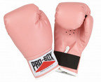 PRO BOX KIDZ PINK PU PLAY GLOVES