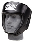 View the PRO BOX LEATHER 'CLUB ESSENTIALS' Collection Black Headguard online at Fight Outlet