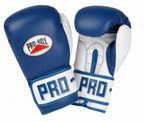 View the PRO BOX PU CLUB ESSENTIALS COLLECTION BLUE JUNIOR SPARRING GLOVES online at Fight Outlet