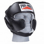 View the PRO BOX 'SUPER SPAR' LEATHER SPARRING HEADGUARD - BLACK online at Fight Outlet