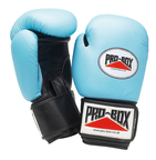 View the Pro Box 'BABY BLUE COLLECTION' Leather Training Gloves online at Fight Outlet