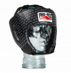 View the Pro Box 'BASE SPAR' JUNIOR PU SPARRING HEADGUARD - BLACK LOGO online at Fight Outlet