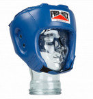 View the Pro Box 'BASE SPAR' PU JUNIOR SPARRING HEADGUARD BLUE online at Fight Outlet
