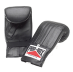 View the Pro Box 'BLACK COLLECTION' Pre-shaped Leather Punch Bag Mitts online at Fight Outlet