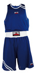 View the Pro Box 'CLUB ESSENTIALS' Blue Boxing Short online at Fight Outlet