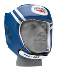 View the Pro Box 'Club Essentials' PU Headguard Blue online at Fight Outlet