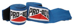 View the Pro Box Junior A.I.B.A Spec Stretch Handwraps Blue 1.5m online at Fight Outlet