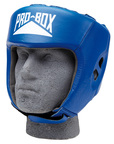 View the Pro Box Leather CLUB ESSENTIALS Collection Blue Headguard online at Fight Outlet