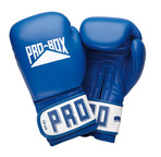 Pro Box Leather 'CLUB ESSENTIALS' Collection' Blue Sparring Gloves
