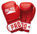 View the Pro Box Leather 'CLUB ESSENTIALS' Collection Red Sparring Glove online at Fight Outlet