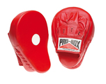 View the Pro Box 'RED COLLECTION' Curved Leather Hook & Jab Pads online at Fight Outlet