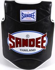 View the Sandee Authentic Body Shield Synthetic Leather Black/White Kids online at Fight Outlet