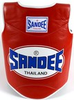 View the Sandee Authentic Body Shield Synthetic Leather Red/White Kids online at Fight Outlet