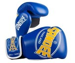 Sandee Cool-Tec Leather Gloves Blue/Yellow/White