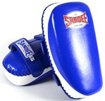 View the Sandee Curved Thai Kick Pads - Leather, Blue/White online at Fight Outlet