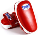 View the Sandee Curved Thai Kick Pads - Leather, Red/White online at Fight Outlet