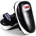 View the Sandee Curved Thai Kick Pads, Leather Black/White online at Fight Outlet