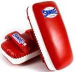 View the Sandee Extra Thick Thai Kick Pads Leather Red/White online at Fight Outlet