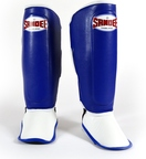 View the Sandee Kids Boot Shin Guards, Blue/White, Synthetic Leather. online at Fight Outlet
