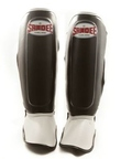 View the Sandee Kids Boot Shin Guards, Synthetic Leather - Black/White online at Fight Outlet