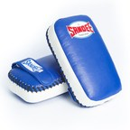 View the Sandee Kids Extra Thick Thai Kick Pads PU Blue/White online at Fight Outlet