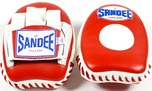 View the Sandee Mini Focus Mitts Leather Red/White  online at Fight Outlet