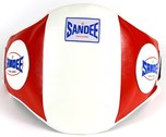 View the Sandee Velcro Belly Pad Red/White online at Fight Outlet