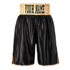 View the Suzi Wong Black & Gold Waist Band Shorts **SALE** online at Fight Outlet