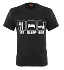 View the Suzi Wong T Shirt 'Eat Sleep Box' Black **SALE** online at Fight Outlet