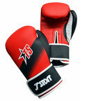 T-Sport Artificial Leather Boxing Gloves , Red, Black