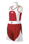 View the Top Pro Junior Boxing Shorts and Vest Set, Red online at Fight Outlet