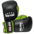 View the   Top Ten Fight Boxing Glove Black/Green 10oz online at Fight Outlet