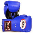 View the BGLL-1 Twins Blue Lace-up Competition Gloves online at Fight Outlet