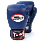 BGVL-3 Twins Navy Blue Velcro Boxing Gloves