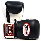BGVL-3T Twins 2-Tone Black-White Boxing Gloves