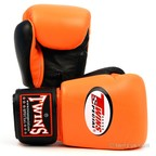 BGVL-3T Twins 2-Tone Orange-Black Boxing Gloves