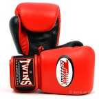 BGVL-3T Twins 2-Tone Red-Black Boxing Gloves