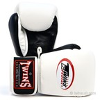 BGVL-3T Twins 2-Tone White-Black Boxing Gloves