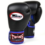 BGVLA-1 Twins Black-Blue Air Boxing Gloves