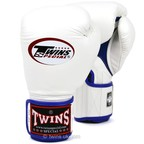 View the BGVLA-1 Twins White-Blue Air Boxing Gloves online at Fight Outlet