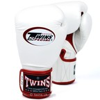 BGVLA-1 Twins White-Red Air Boxing Gloves