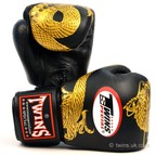 View the FBGV-23 Twins Black-Gold Dragon Boxing Gloves online at Fight Outlet