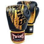 FBGV-TW3 Twins Black-Gold Claw Boxing Gloves