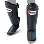 View the SGL-10 Twins Grey Double Padded Leather Shin Pads online at Fight Outlet