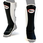 View the SGMC-8 Twins Black Super Slim Leather Shin Pads online at Fight Outlet